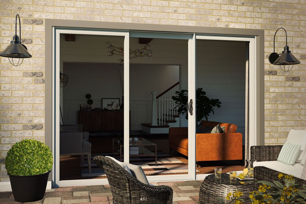 Three-Panel Sliding Patio Doors