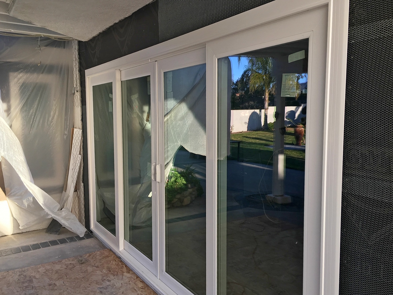 French Rail Slider Door Project in Etiwanda